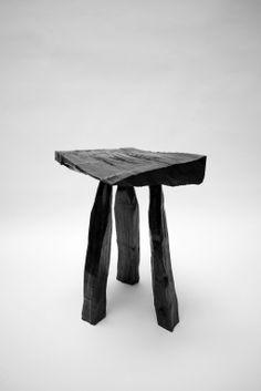 Max Lamb + Hidetaka Wakashima . urushi lacquer stool