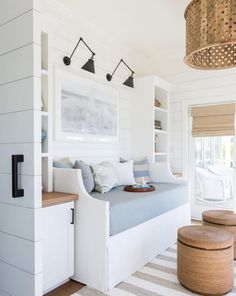 Get inspired by Coastal Living Room Design photo by Marie Flanigan Interiors. Wayfair lets you find the designer products in the photo and get ideas from thousands of other Coastal Living Room Design photos. Coastal Bedrooms, Coastal Living Rooms, Coastal Homes, Living Spaces, Coastal Decor, Coastal Rugs, Coastal Cottage, Coastal Farmhouse, Modern Coastal