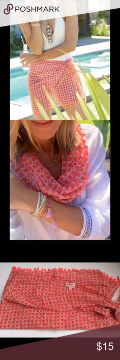 Stella &Dot Beach cover up or scarf sz medium Never worn. I bought this last year and it was too big. Smoke/animal free. Swim One Pieces