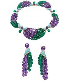 Biennale necklace and earring by Bulgari