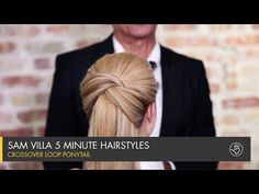 How-To: Crossover Loop Ponytail from Sam Villa 5 Minute Hairstyles, Work Hairstyles, Pretty Hairstyles, Braided Hairstyles, Sam Villa, Pull Through Braid, Simple Ponytails, Crossover, Braided Ponytail