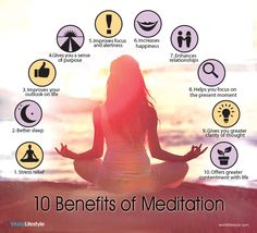 The benefits of meditation!