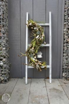 Licrea Ladder Decor, Flower Arrangements, Christmas Wreaths, Easter, Spring, Garden, Flowers, Home Decor, Carnival