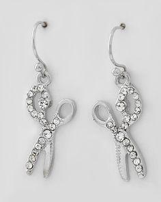 #Scissor #Dangle #Bling #Earrings #Fashion #Jewelry #Beauty #Salon #Hair #Stylist $15.00 http://www.shearbling.com/catalog.php?item=230