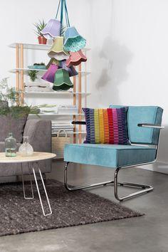 Ridge rib lounge  armchair