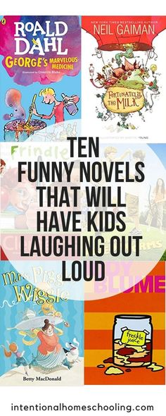 Ten funny chapter books that will have kids laughing out loud. Great novels kids will love, especially the boys. reading Ten Funny Chapter Books That Will Have Kids Laughing Out Loud