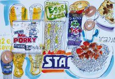 David Meldrum's daily food illustrations