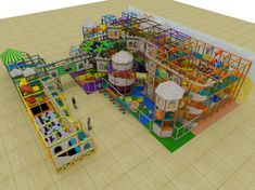 Large castled themed indoor playground