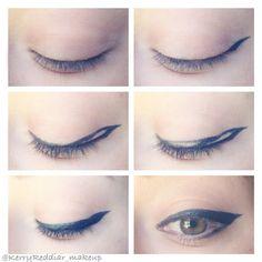 Winged_Eyeliner_Cateyeliner_By Kerry Reddiar_www.kerryreddiar.com #eyeliner #wingedeyeliner #cateyeliner #gelliner #makeup #eyeliner #makeup