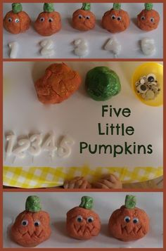 Five Little Pumpkins Play dough