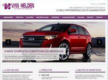 Layout de Site Criado para a Van Helden Seguros #criative #site #criacaodesites #seguros #agencia #comunicacaovisual www.visiondesign.com.br