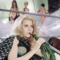 barbarella (jane with a pipe) Jane Fonda Barbarella, Divas, Stock Image, Golden Age Of Hollywood, Sensual, Costume Design, Battlestar Galactica, Actors & Actresses, Classic Actresses