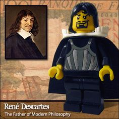 Literary Legos: Rene Descartes. Influential philosopher, mathematician, scientist, and writer. And LEGO.