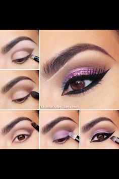 glamorous glitter eye makeup - Google Search