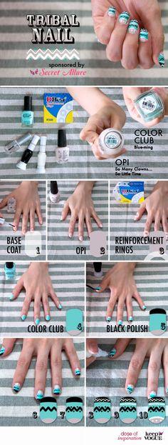 DIY tribal nails
