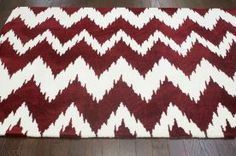 Rugs USA Radiante Vertical Chevron Red Rug