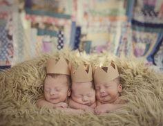 babies wearing Paper Crowns