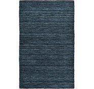 Navy Blue 9' 10 x 13' 0 Solid Gabbeh Rug | Oriental Rugs | eSaleRugs