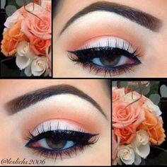 Delicato make up occhi arancione http://www.mitrucco.it/