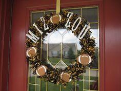 Thinking about making a Giants and Cardinals wreath like this... Is it to much to have two wreaths on a door?