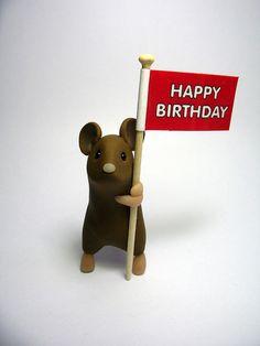 Happy Birthday Mouse by QuernusCrafts, via Flickr