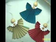 [Christmas Crafts] How to Make Your Own Homemade Christmas Cards -- To view further for this article, visit the image link. Paper Ornaments, Christmas Ornaments To Make, Homemade Christmas, Christmas Angels, Christmas Art, Christmas Projects, Christmas Decorations, Angel Ornaments, Origami Christmas