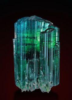 Tourmaline - Santa Rosa Mine, Itambacuri, Doce Valley, Minas Gerais, Brazil Size: 8.6 x 5.1 x 2.9 cm