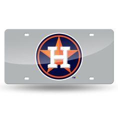 Houston Astros MLB Laser Cut License Plate Tag