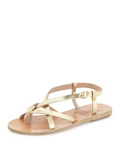Semele+Strappy+Flat+Sandal,+Gold+by+Ancient+Greek+Sandals+at+Neiman+Marcus.