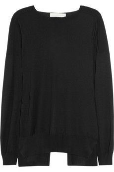 Stella McCartney Wool and silk-blend sweater | NET-A-PORTER