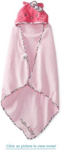 Hello Kitty Baby-Girls Newborn Hooded Towel