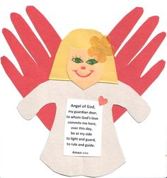 Here is a simple craft for to use for the feast of the Holy Angels or to simply help teach your child or Sunday school class the Guardian Angel Prayer. Read The Rest → Catholic Crafts, Catholic Kids, Church Crafts, Sunday School Crafts For Kids, Christmas Crafts For Kids, Holiday Crafts, Christmas Holiday, Christmas Ideas, Christmas Cards
