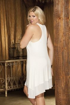 Sexy plus size nightgown, soft and comfy sleepwear in 4 great colors.