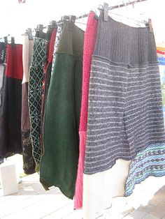 upcycled sweater skirts (cannot find original source)