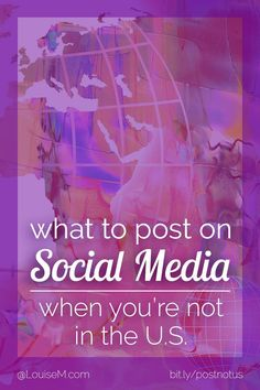 Social media marketing tips: what to post on social media if you're a small business that's NOT US-based. It depends on your target audience! Click to blog to get the best tips for what and when to post.