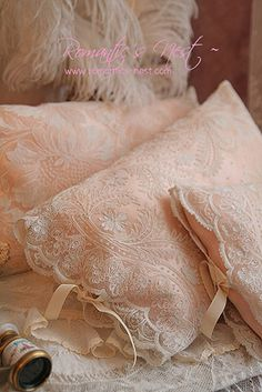 Lace pillow covers -- Lovely and So Elegant!