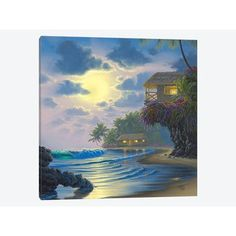 East Urban Home Paradise Found Painting Print on Wrapped Canvas Size: