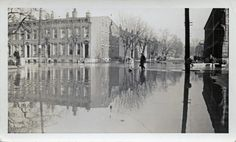 Newport, Kentucky, 1937 flood, from a private collection: 5th Street and Washington Avenue, looking east on 5th Street from Saratoga Street.  Tuesday 1/26/37