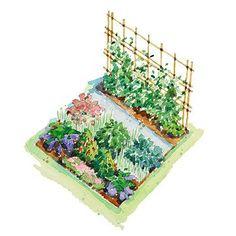 Free Asian-Inspired Vegetable Garden Plan