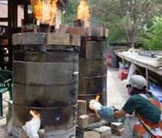 """Part 2 of Bruce Bowers' article on converting electric kiln bodies for gas/wood firing. Bruces' Monocacy River Pottery Facebook page:  https://www.facebook.com/pages/Monocacy-River-Pottery/113007692135523 Bruce reports """"I have made over thirty of these, for other people and me, with very consistent results."""""""