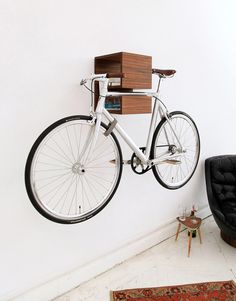Mikili bookshelf bike rack we need one of these in our office!