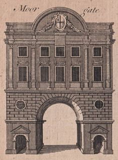 The City Gates As They Appeared Before They Were Torn Down - Printed in 1775, this plate recorded venerable edifices that had been demolished in recent decades and was reproduced in Harrison's History of London, a publication notable for featuring Death and an Hourglass upon the title page as if to emphasise the mutable, ever-changing nature of the capital and the brief nature of our residence in it. [more images]