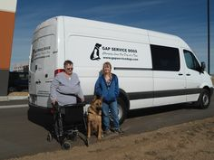 #vehiclegraphics #vehiclewraps #vehiclelettering #installationservices #vehiclegraphicsdesigns #SignaramaColorado #Signs #colorado Cut vinyl lettering for GAP Service Dogs