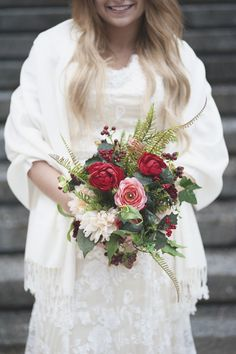LDS Temple Mormon Winter Wedding | Marsala and blush wedding