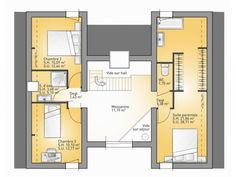 Nice Plan Maison 4 Chambres Etage Suite Parentale that you must know, You?re in good company if you?re looking for Plan Maison 4 Chambres Etage Suite Parentale Master Bedroom Layout, Bedroom Layouts, Good Company, House Plans, Floor Plans, Construction, How To Plan, Architecture, Rhone
