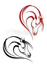 Horse tattoos - the red one is almost exactly what I'd want