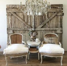 This would make a great seating area for a rustic, country wedding reception