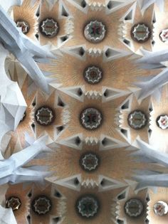 Ceiling at Gaudi Cathedral