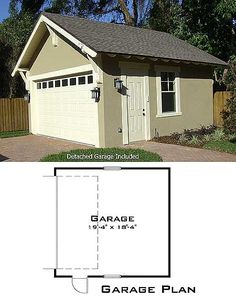 garage with plan