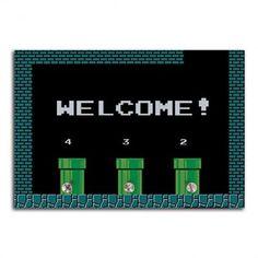 Porta Chaves Welcome! - Fábrica Geek  Para relembrar da época de um dos icones do video game, apresentamos um Porta Chaves perfeito para quem era viciado no clássico da Nintendo, os jogos do Mário.